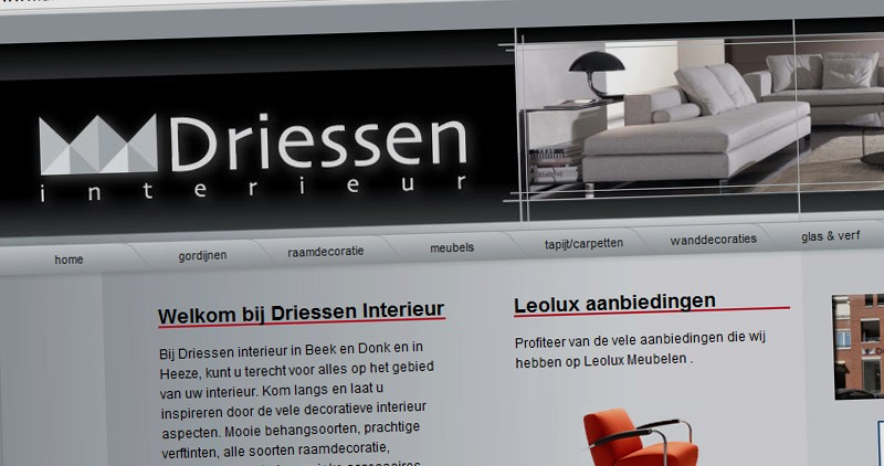 Webdesign webhosting en domeinregistratie in laarbeek for Driessen interieur